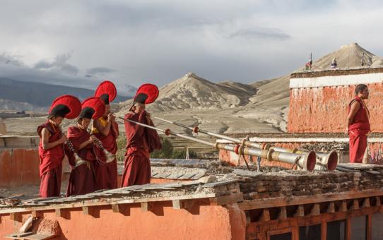 Ло Мантанг - город из песка, затерянный в Гималаях.